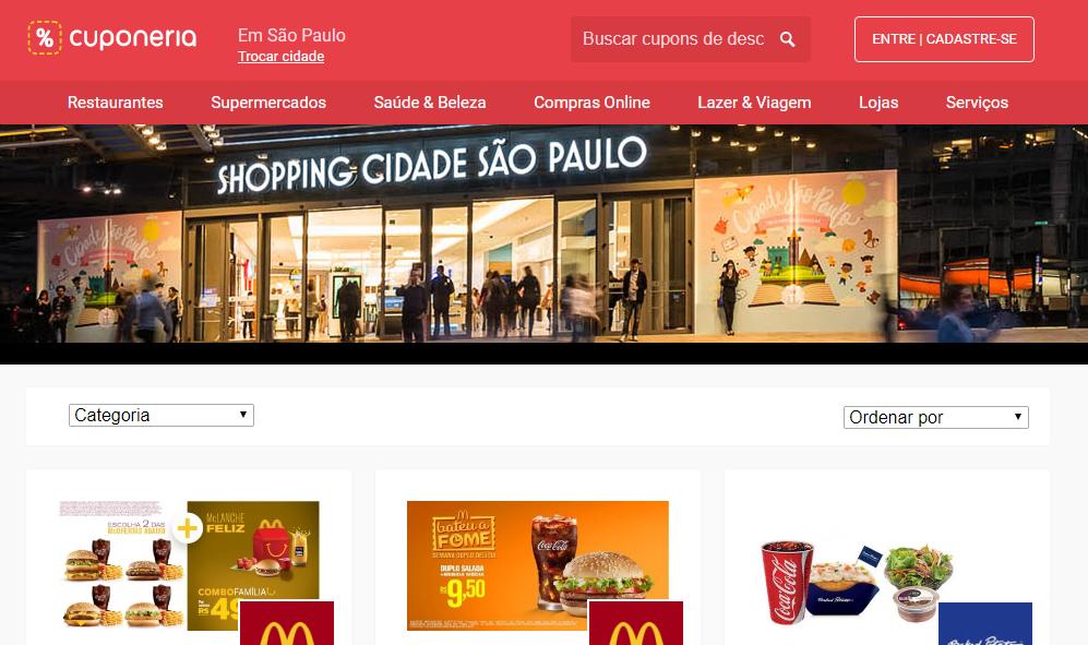 51a247376070f Shopping Cidade São Paulo em parceria com Cuponeria lança programa de  cupons de descontos
