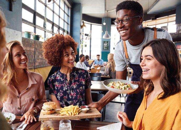 papel dos restaurantes