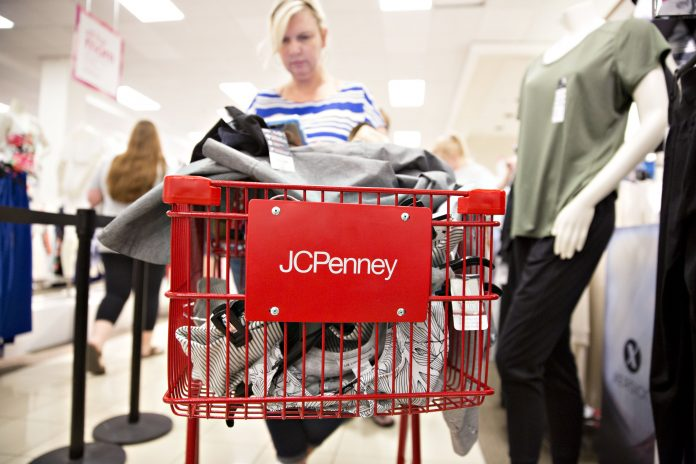 Shoppers Inside A JCPenney Store Ahead Of Earnings